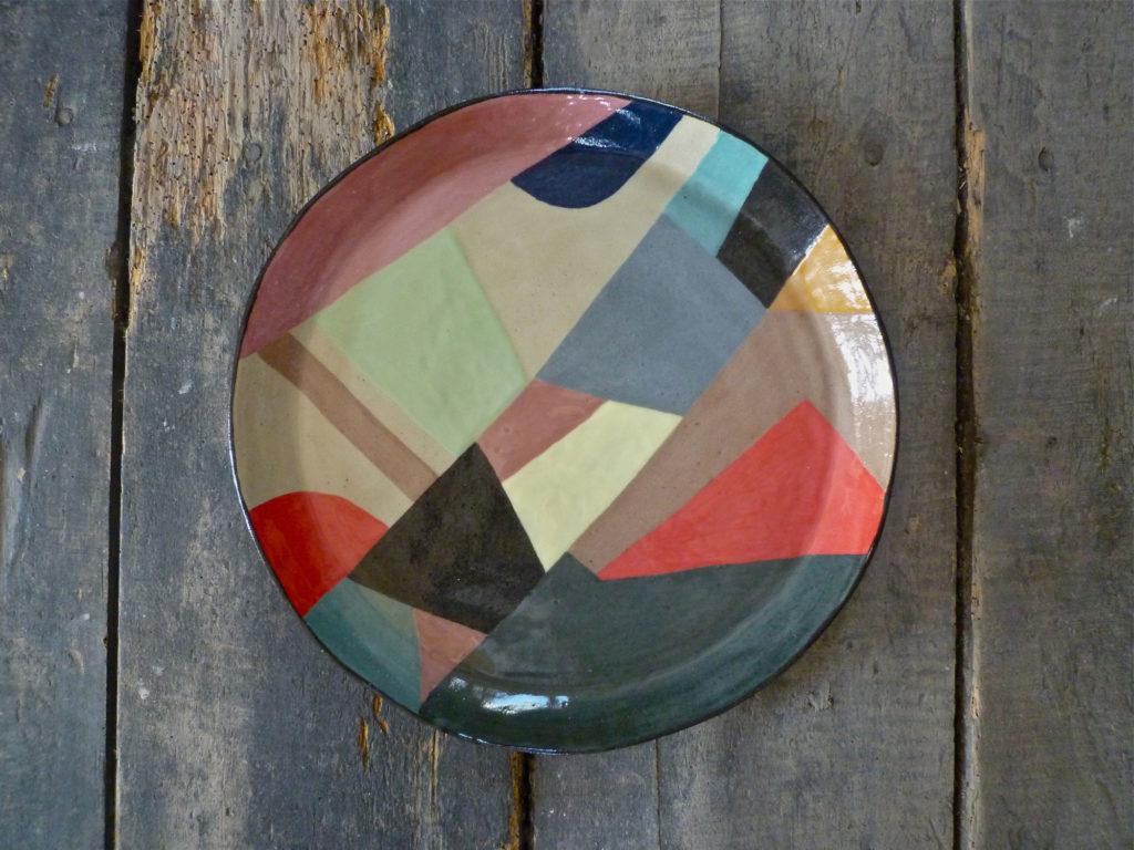 plat valerie gutton geometrique gres couleur