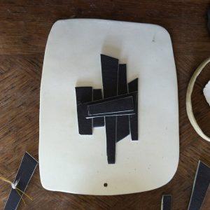 atelier valerie gutton tableau noir porcelaine gres