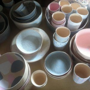 atelier valerie gutton vaisselle gres couleur