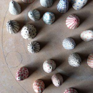 atelier clochette valerie gutton geometrique porcelaine couleur